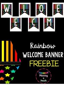 RAINBOW WELCOME BANNER-FREEBIE!