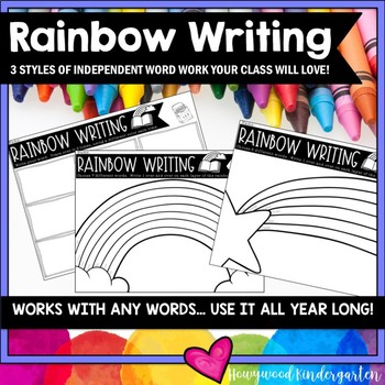 RAINBOW WRITING . Spelling or Sight Word Work for ANY Words . Use All Year