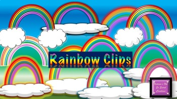 RAINBOWS :) Clipart pngs Transluscent Backing