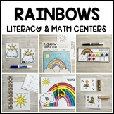 RAINBOWS Literacy & Math Centers for Spring (Preschool, PreK, Kindergarten)