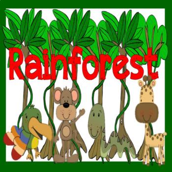 RAINFORESTS - KEY STAGE 1-2 JUNGLE ANIMAL DISPLAY LITERACY