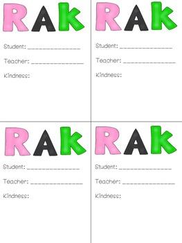 #kindnessnation RAK: Random Acts of Kindness Cards
