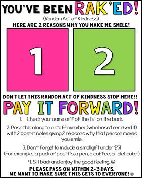 RAK (Random Acts of Kindness) Challenge - Staff Morale Booster
