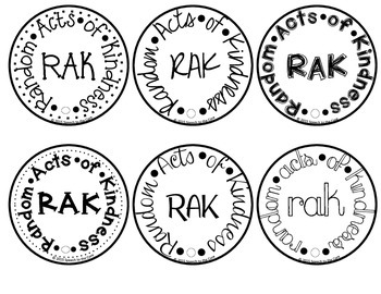 RAK (Random Acts of Kindness) Tags