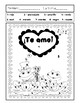 RANAS ENAMORADAS-5 Fun February Spanish color by number pages for fiestas