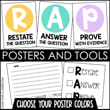 RAP - Short Answer Strategy Posters, Reminders, Checklists, and Response Cards