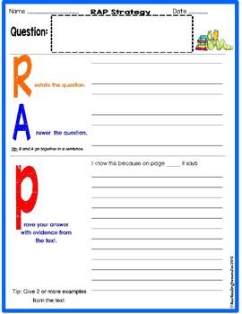 RAP Written Response Sheet/ TRC Practice