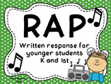 RAP Written Response Strategy for Younger Students