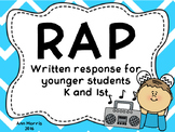 RAP Written Response Strategy for Younger Students (Blue)