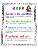 RAPP Anchor Chart (Restate, Answer, Prove, Proofread)