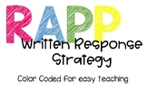 RAPP Written Response Strategy-Color Coded Posters and Activities