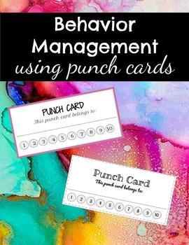 Punch Cards *Freebie*