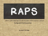 RAPS Short Response Answers (burlap and chalkboard)