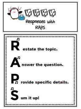 RAPS Writing Responses to Texts