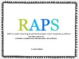 RAPS short response posters in Lime and Blues