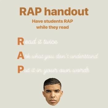 RAPping while reading -- Paraphrasing Worksheet