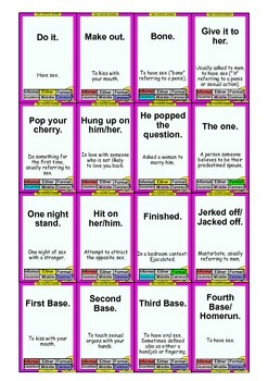 RATED R: 128 Sex, Dating, and Modern Idiom Cards (Adults ONLY)