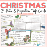 RATIO AND PROPORTION: TASK CARDS: WINTER/CHRISTMAS THEME