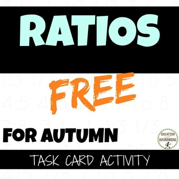 Ratio Task Card Activity For Fall or Autumn (FREE)