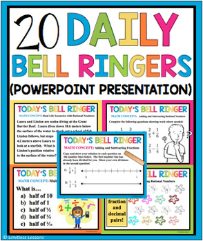 RATIONAL NUMBERS BELL RINGERS AND TASK CARDS