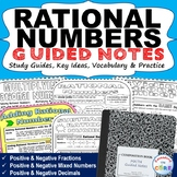 RATIONAL NUMBERS Doodle Math - Interactive Notebooks (Guid