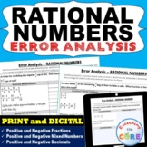 RATIONAL NUMBERS (Fractions and Decimals)   Find the Error