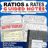 RATIOS AND RATES Doodle Notes - Interactive Math Notebooks
