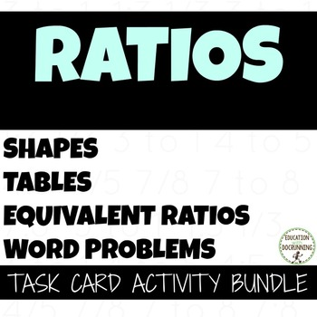 Ratio Task Card Activity Bundle for 6th Grade (SAVE)