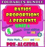 Ratios, Proportions and Percents. UNIT 6. PRE-ALGEBRA Foldables Bundle