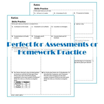 RATIOS & RATES Homework Pra... by Exceeding the CORE   Teachers ...