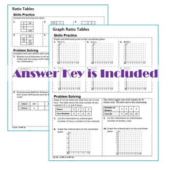RATIOS & RATES Homework Practice Worksheets - Skills Practice & Word Problems