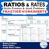 RATIOS & RATES Homework Practice Worksheets - Skills Practice & Word Problems