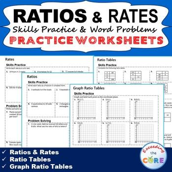 RATIOS & RATES Homework Practice Worksheets - Skills Pract
