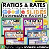 RATIOS & RATES Interactive Activity BUNDLE   Google Slides