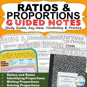 RATIOS and PROPORTIONS Doodle Notes (Study Guides)