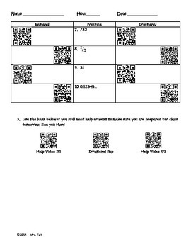 RATIOnal or IRrational? QR code assignment