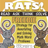 RATS! Math Word Problem Strategy FREEBIE