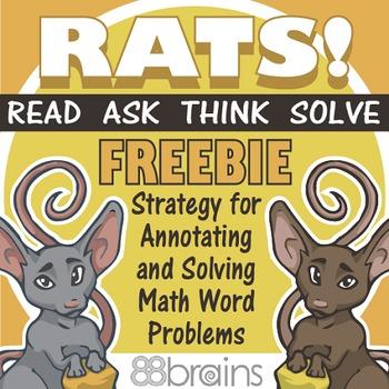 RATS! Math Word Problem Strategy FREEBIE