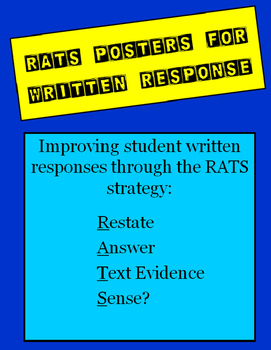 RATS Written Response Strategy Posters