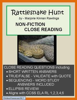 RATTLESNAKE HUNT Non-fiction Story Unit