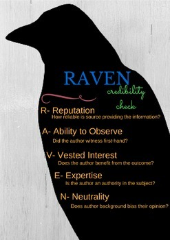 R.A.V.E.N. Source Credibility Classroom Poster