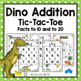 Dinosaur Addition!  Tic-Tac-Toe  Sums to 12 and 20