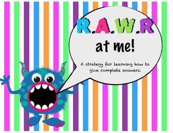 RAWR At Me - a strategy for learning to give complete answers