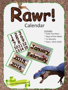 RAWR!!! Calendar Set