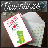 RAWR Means I Love You Dinosaur Valentine Card