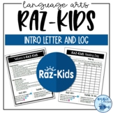 RAZ-Kids™ Parent Letter, Reading Log, and Cheat Sheet | Distance Learning
