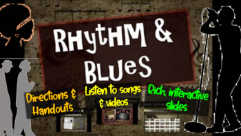 R&B (Rhythm & Blues): An engaging Music History PPT (links, handouts & more)