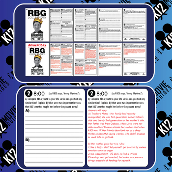 RBG - Ruth Bader Ginsburg Documentary Movie Guide | Worksheet (PG - 2018)