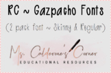 RC ~ Gazpacho Fonts