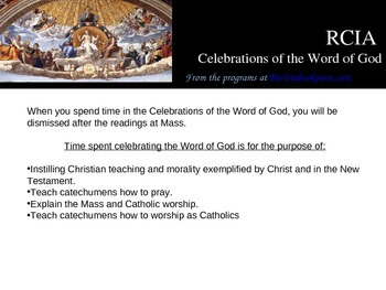 RCIA Rites and Sacraments, Powerpoint teaching presentation for groups